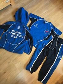 Boys Beacon gymnastics club tracksuit t-shirt trousers