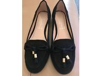 Brand new black suede loafer style shoes