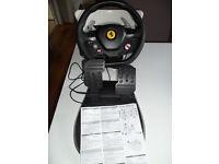 THRUSTMASTER fERRARI 458 ITALIA XBOX 360 PEDALS STEERING WHEEL RACING CONTROLLER
