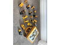 Collection of jcb toys