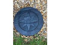 Handmade concrete compass stepping stone