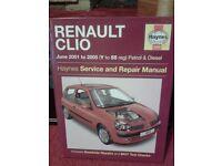Haynes manual for Renault Clio