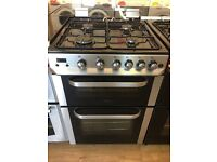 SERVIS 60CM BRAND NEW ALL GAS COOKER IN SILIVER WITH LID