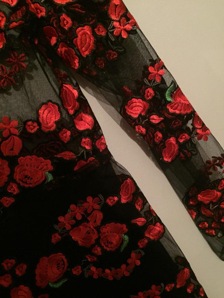 Misguided Gorgeous Floral Black And Red Dress