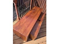 Wooden Coffee Table with two matching Side Tables