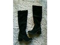River Island Black Knee high boots