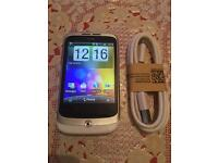 HTC wildfire S A333 white smartphone unlocked facebook WhatsApp and much more on play store