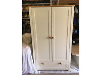 Nusery or Childrens Wardrobe, Cream with Pine