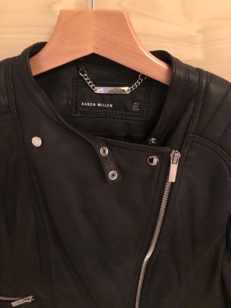dc042f65471 Karen Milan soft black leather Jacket worn once