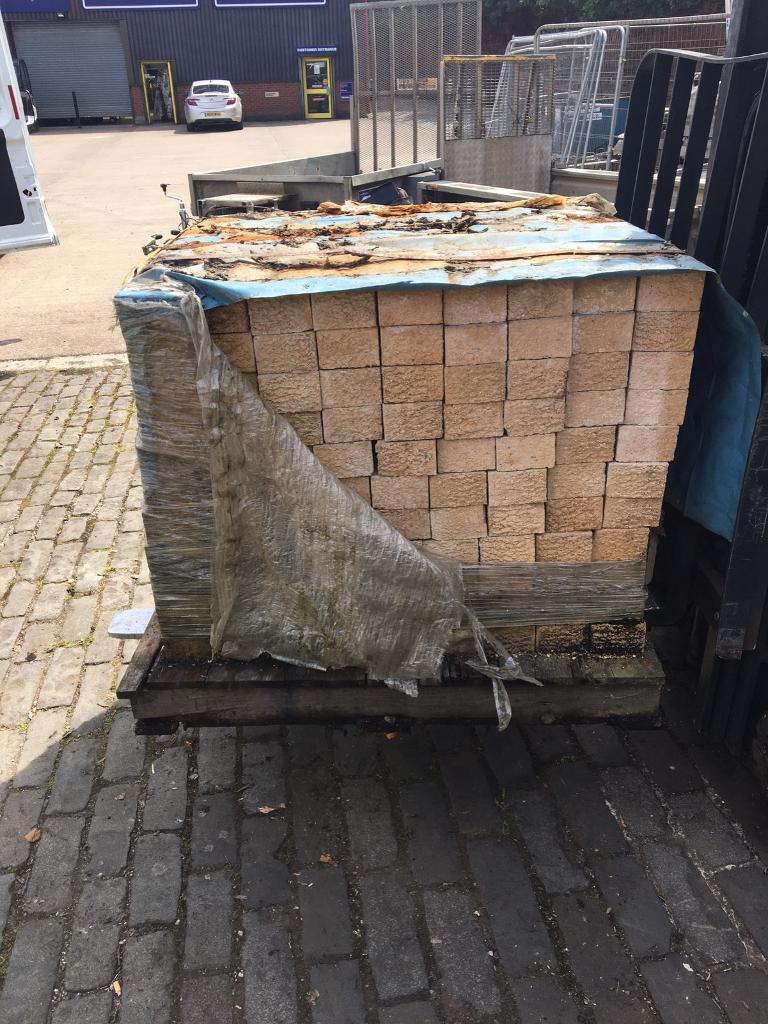 7 pallets of Buff brick SOLD SOLD SOLD