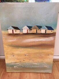 Canvas of beach huts