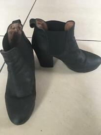 Fab topshop leather platform boots size 5