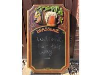 Vintage antique bar/ kitchen, Shabby chic chalk board!