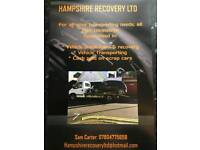 Recovery and vehicle transporting services