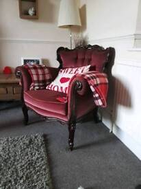 original rococo style chair