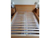 IKEA Malm Oak Effect Double Bed Frame