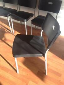 5 x metal chairs