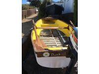 Small GRP Fibreglass Fishing / Rowing Boat