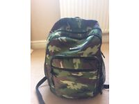 Boys Back Pack - Hi Tec khaki/camaflauge. Used once on a school trip. Excellent condition.
