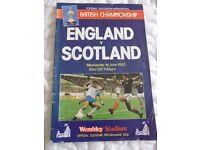 England versus Scotland Football Programme - 1983