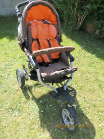 """JANE SLALOM PRO"" LUXURY PUSH CHAIR/ BUGGY AND JANE MATRIX CUP CARRY COT"