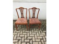 Pair of Country oak Georgian chairs