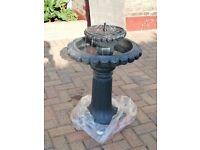 Water fall/Fountain solar power plus batt back up