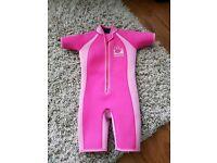 Jo jo mama pink swim wetsuit age 3-4