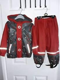 Boys waterproof suit age 2-4 years