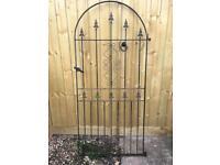 Iron garden gate