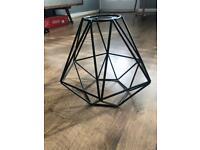 Black cage pendant light shade