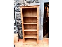 Large freestanding solid wood bookcase