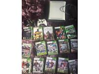Xbox 360 with 15 games 2 controllers and headset