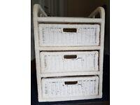White 3 drawer storage
