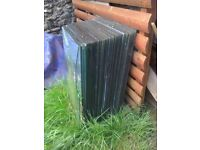 Glass panes joblot x 30 dims 18 x 29 inches