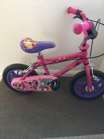 12 inch Pink Disney Bike