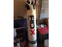 Punching bag w/ gloves and wall-bracket