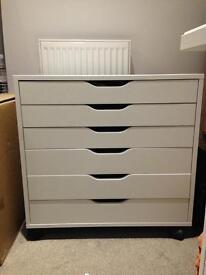 White drawer storage unit on castors ALEX IKEA unit