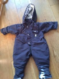 grey penguin winter all-in-one suit 6-9 month size 68