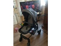 Graco pushchair grey good condition comes with rain cover and footmuff