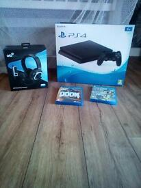 PS4 1TB , 2 games, 1controller & Headset