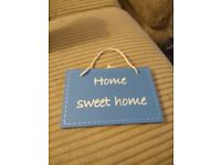 Playhouse, ELC, Home Sweet Home sign/placard