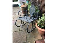 Metal garden rocking chair