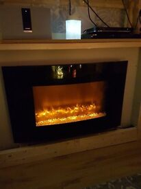 EGL Colour Changing Wall Fire with Shelf
