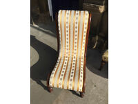 Bedroom chair , good quality and condition . Must be seen. Mahogany frame. Free local delivery.