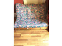 Futon with Pine frame and quality mattress