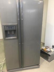 Silver Samsung double American fridge / freezer