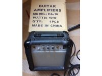 Junior Electric Guitar Carrying Case. and Amp Strings and Tuner
