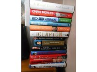 Collection of Books - 13 x Autobiographies £3 for the lot