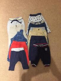 3-6 month baby trousers bundle